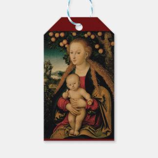 Etiqueta Para Presente Criança do Virgin sob a árvore de Apple Cranach