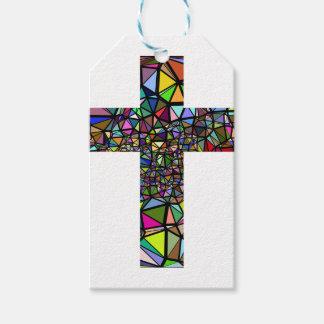 Etiqueta Para Presente Cruz abstrata do cristo do Natal