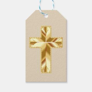 Etiqueta Para Presente Cruz do ouro