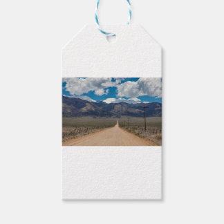 Etiqueta Para Presente Cruzamento da estrada da parte traseira do vale do