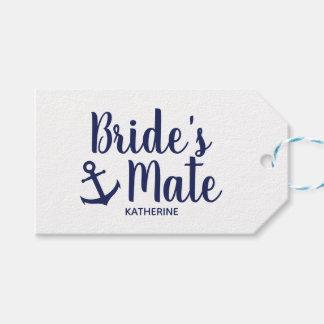 Etiqueta Para Presente Dama de honra da âncora do companheiro da noiva
