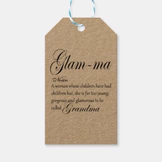 Etiqueta Para Presente Definição GLAM da avó das MÃES