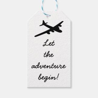 Etiqueta Para Presente Deixe a aventura começar Tag do presente do tema
