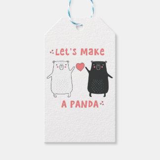Etiqueta Para Presente deixe-nos fazer uma panda