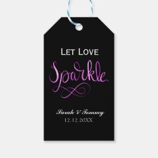 Etiqueta Para Presente Deixe os Tag da faísca do amor que wedding ou os