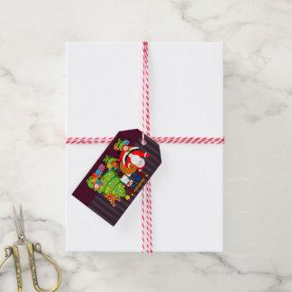 Etiqueta Para Presente Desenhos animados de Papai Noel que entregam