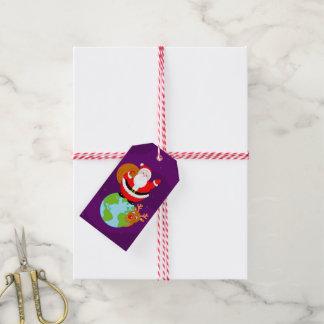 Etiqueta Para Presente Desenhos animados do divertimento de Papai Noel
