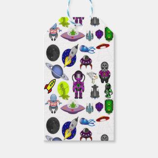 Etiqueta Para Presente Desenhos animados do espaço