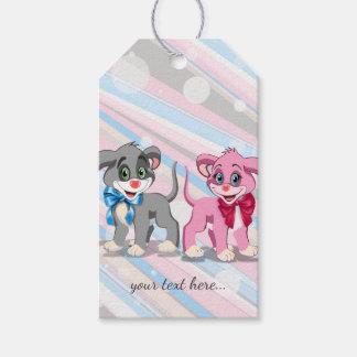 Etiqueta Para Presente Desenhos animados dos filhotes de cachorro do