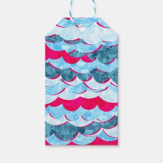 Etiqueta Para Presente Design abstrato das ondas do mar