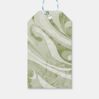 Etiqueta Para Presente Design abstrato das ondas verdes