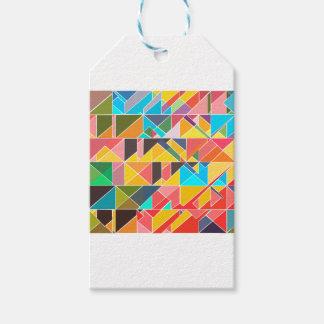 Etiqueta Para Presente Design abstrato triangular
