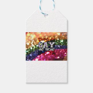 Etiqueta Para Presente Design alegre e orgulhoso do arco-íris