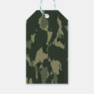 Etiqueta Para Presente Design bege cinzento verde escuro de Camo da