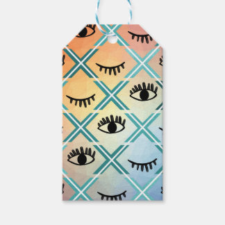 Etiqueta Para Presente Design colorido original dos olhos