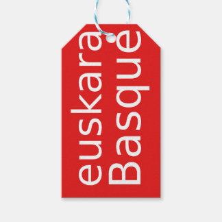 Etiqueta Para Presente Design da língua Basque