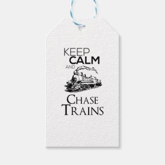 Etiqueta Para Presente design da perseguição do trem bonito