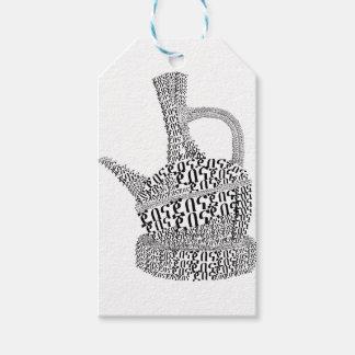 Etiqueta Para Presente Design de texto do pote do café