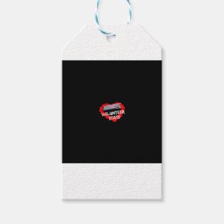 Etiqueta Para Presente Design do coração da vela para o estado de