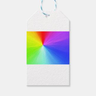 Etiqueta Para Presente Design do espectro do arco-íris