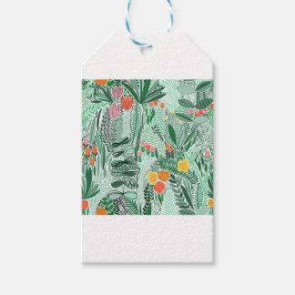 Etiqueta Para Presente Design do ethno de Indonésia das flores