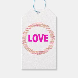 Etiqueta Para Presente design legal do círculo do amor