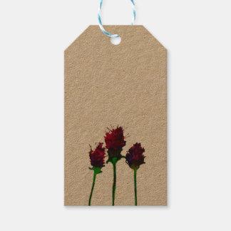 Etiqueta Para Presente Design roxo bonito da flor