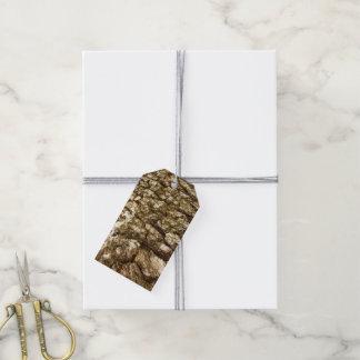 Etiqueta Para Presente Design Textured do latido de árvore II abstrato