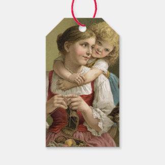 Etiqueta Para Presente Dia das mães da mãe & da criança do vintage