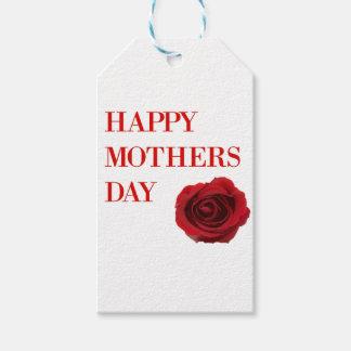 Etiqueta Para Presente Dia das mães da rosa vermelha