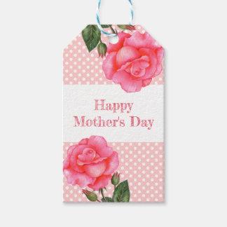 Etiqueta Para Presente Dia das mães das bolinhas do rosa do rosa da