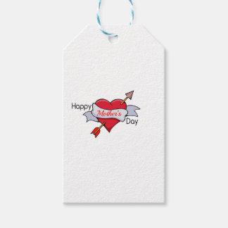 Etiqueta Para Presente Dia das mães feliz no tatuagem do coração