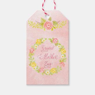 Etiqueta Para Presente Dia das mães - rosas bonito da aguarela 2 WA