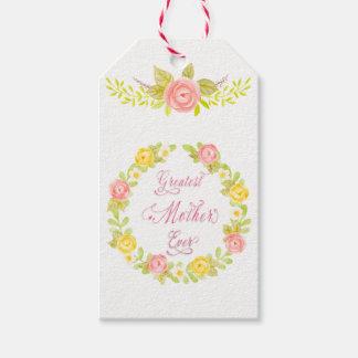Etiqueta Para Presente Dia das mães - rosas bonito WA da aguarela