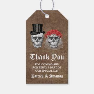 Etiqueta Para Presente Dia do obrigado inoperante do casamento do casal
