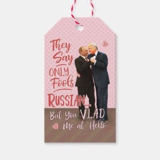 Etiqueta Para Presente Dia dos namorados engraçado de Donald Trump