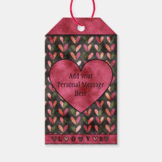 """Etiqueta Para Presente Dia dos namorados - o coração modela o """"amor """""""