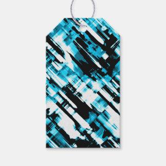Etiqueta Para Presente Digitalart quente G253 do abstrato do preto azul