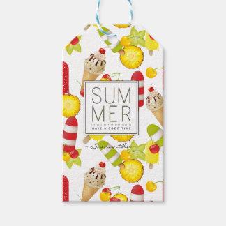 Etiqueta Para Presente Divertimento das frutas e do gelado do verão