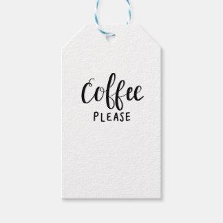 Etiqueta Para Presente Do CAFÉ caligrafia POR FAVOR