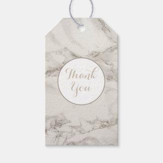 Etiqueta Para Presente Do Taupe de mármore do alabastro do falso obrigado