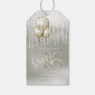 Etiqueta Para Presente Doce 16 Champagne ID473 das luzes & dos balões da