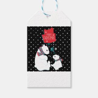 Etiqueta Para Presente Dois Felizes Natais dos ursos polares