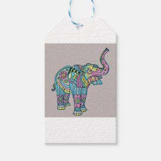 Etiqueta Para Presente Elefante feliz