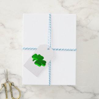Etiqueta Para Presente Elegante engraçado do verde do teste padrão do