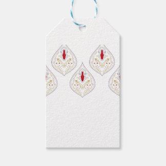 Etiqueta Para Presente Elementos exóticos do design no branco