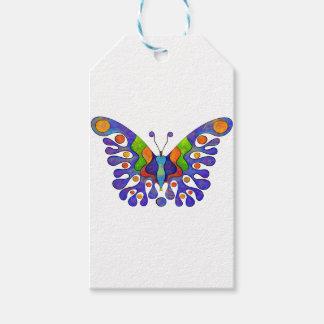 Etiqueta Para Presente Elenissina - borboleta colorida