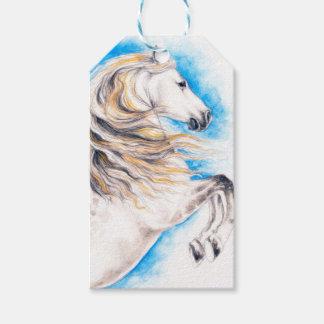 Etiqueta Para Presente Elevando o cavalo branco