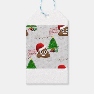 Etiqueta Para Presente emoji do poo do Feliz Natal