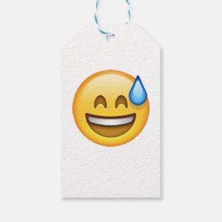Etiqueta Para Presente Emoji - suor frio